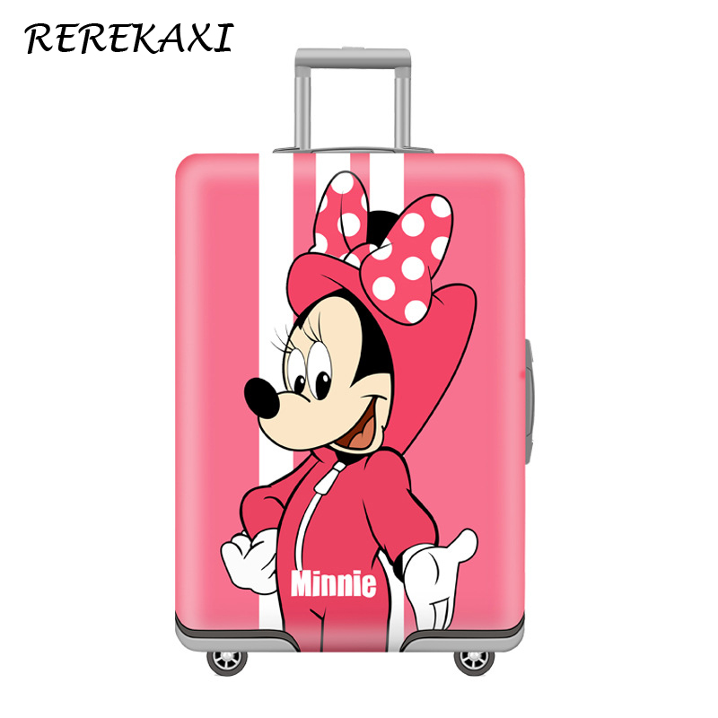 REREKAXI Cartoon Mouse Suitcase Luggage Cover 18-32 Inch Travel Baggage Protection Covers Trolley Trunk Dust Case Cover