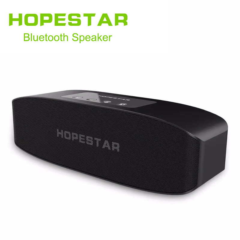HOPESTAR H11 Bluetooth Wireless Speaker Hifi Soundbar Dual Bass Stereo Support <font><b>USB</b></font> TF AUX FM with Power bank charging for phone image