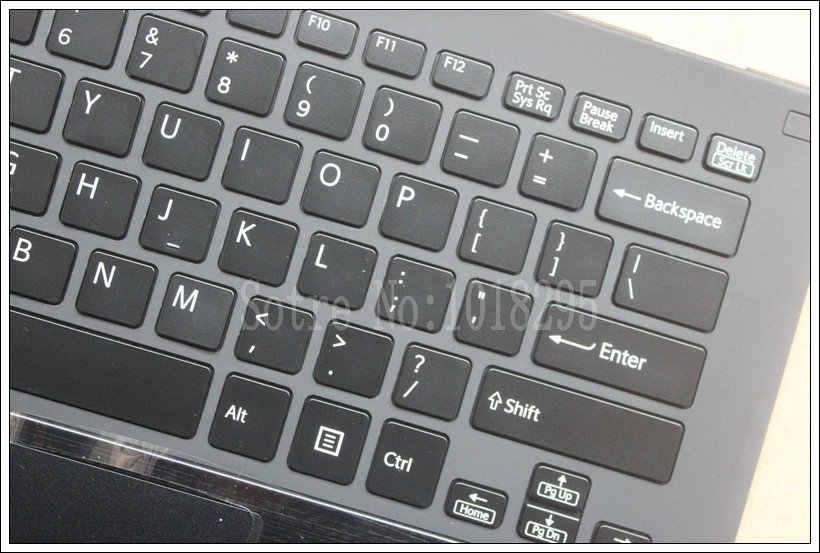 الولايات المتحدة لوحة المفاتيح لابتوب سوني Vaio Pro13 SVP13 SVP132 SVP13A SVP1321M2EB SVP1322M1EB SVP132A1CM الخلفية لوحة اللمس و Palmrest حالة