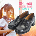 Women's Japan/Japanese School Student Uniform JK Shoes Uwabaki JK 4.5cm Heels Round Toe Anime Cosplay Black / Brown