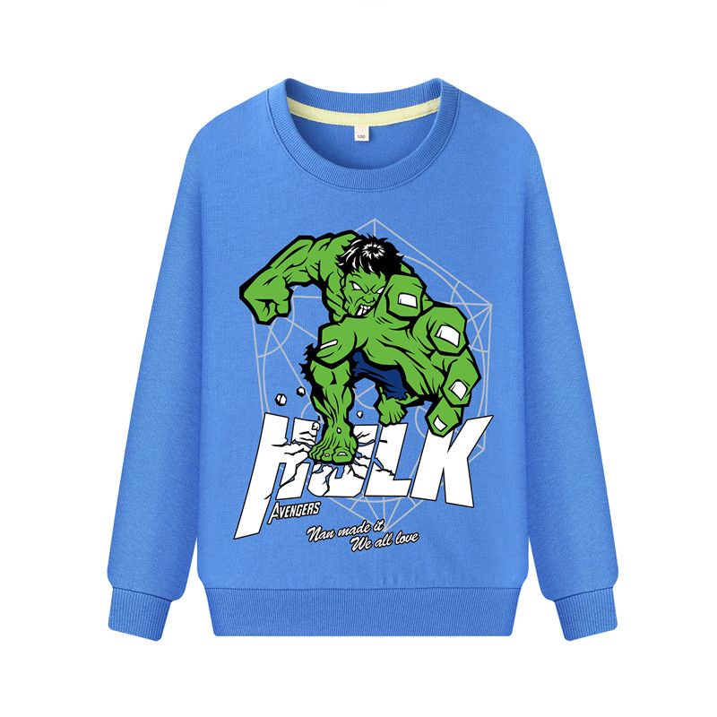 Child Hulk Print Boys Girls Kids Cotton Hoodie