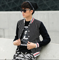 2015 spring new brand men's clothing Slim Korean Outwear spring coat tide male plaid baseball clothes Costumes jackets
