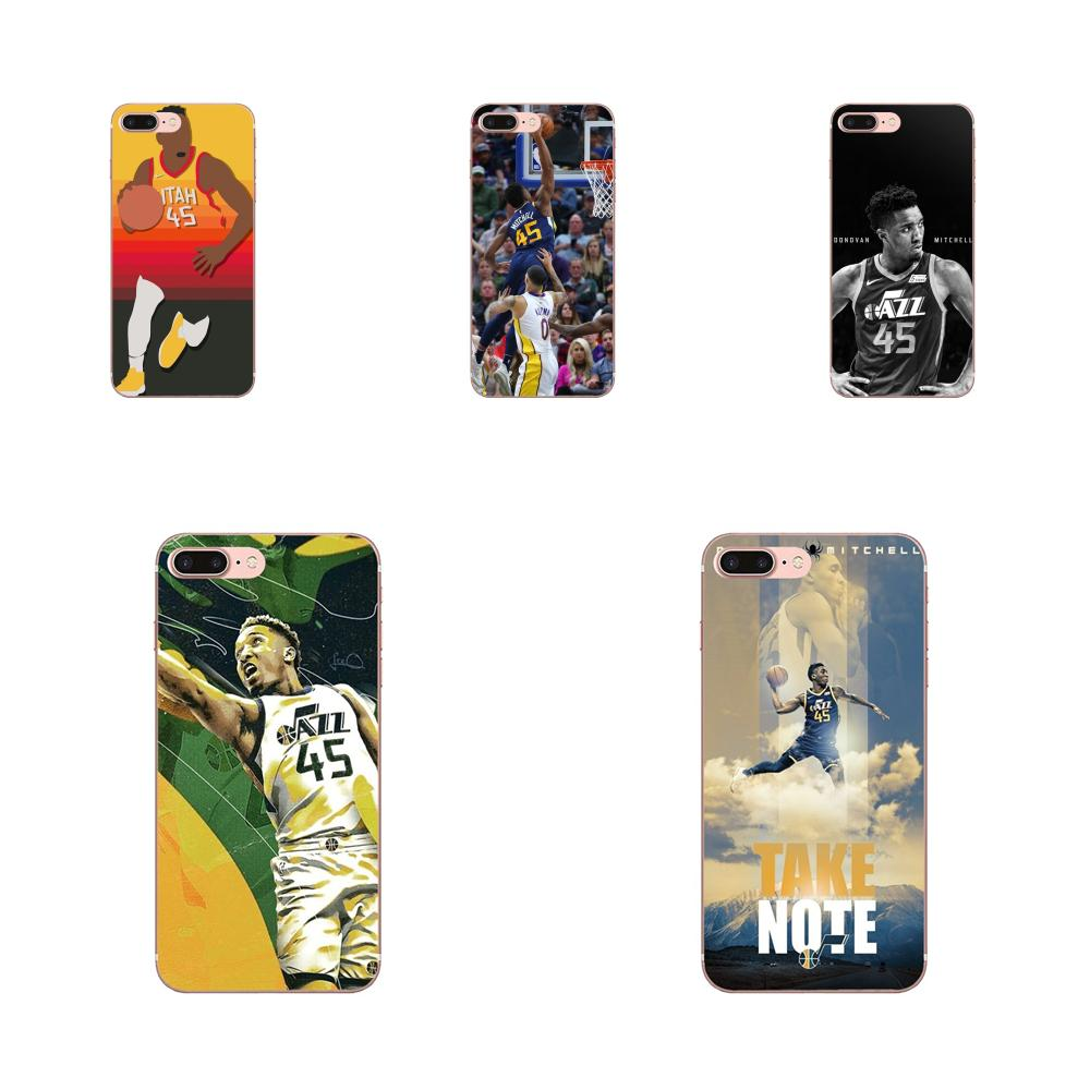 Soft New Style Basketballer Donovan Mitchell <font><b>45</b></font> For <font><b>Xiaomi</b></font> <font><b>Redmi</b></font> Mi Note 7 8 9 SE Pro Lite Go Play image