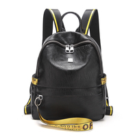 S P L Korean Fashion Women And Men Backpack Pu Leather Crossbody Bag With Ribbon Travelling