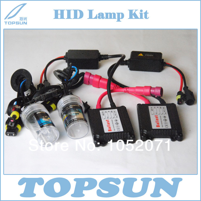 35W HID xenon conversion kit headlight -slim ballast and single xenon lamp h1 h3  h7 h11 9005 9006 880 H8  881 H9 slim hid xenon ballast 880 4300k headlight kit conversion bulbs 35w [c476]
