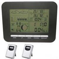ホームワイヤレスウェザーステーションアラーム時計気圧計/温度計/湿度計 + 2 屋外温度 & 湿度トランスミッタ
