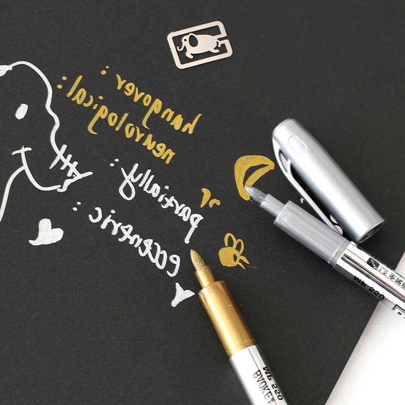 Gold Metalic Gel Pen School Craft Office Christmas Invitation Card Make