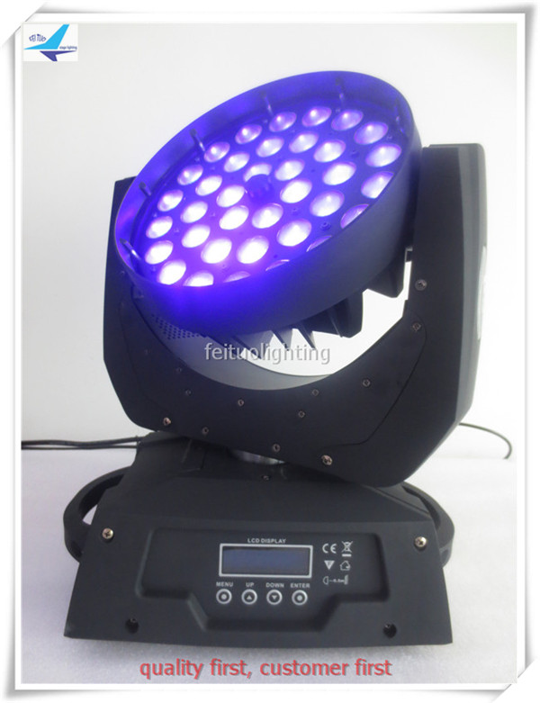 T- 4pcs/lot RGBWA UV 6in1 36x18 led moving head dmx zoom LED Wash Moving Head Light LED Stage Lighting stage washer ...