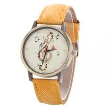 Simulation Leather Relojes Quartz font b watch b font font b Women b font font b