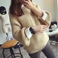 Sweater Womenr Knit Pullover Thick Coarse Wool knitted Lantern Sleeve Tops Fashion Casual For Autumn Winter Women Sweater