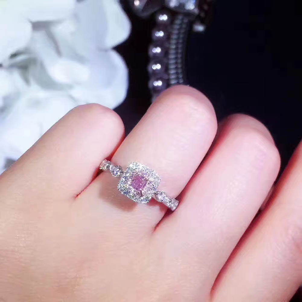 new Luxury Wedding Stone Rings with Big Square Zircon Silver Color ...