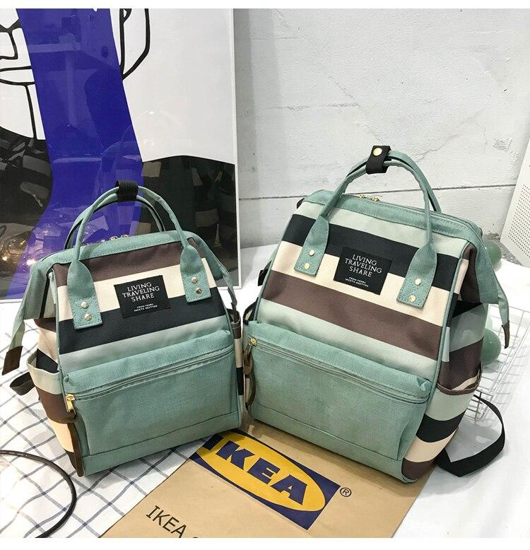 HTB1ZIn UbvpK1RjSZFqq6AXUVXaA 2019 Korean Style Women Backpack Canvas Travel Bag Mini Shoulder Bag For Teenage Girl School Bag Bagpack Rucksack Knapsack