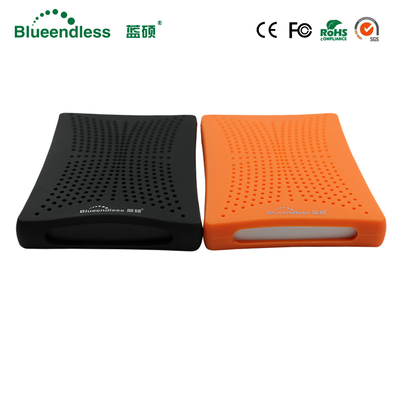 High Speed 5GBPS Blue/Orange HDD SSD Case with 320G Capacity Hard Disk 2.5 SATA USB 3.0 with Rubber Anti shock Case Aluminum HDD sata usb 3 0 blue orange hdd case with 250g hard disk heating release rubber case 2 5 fast reading speed case