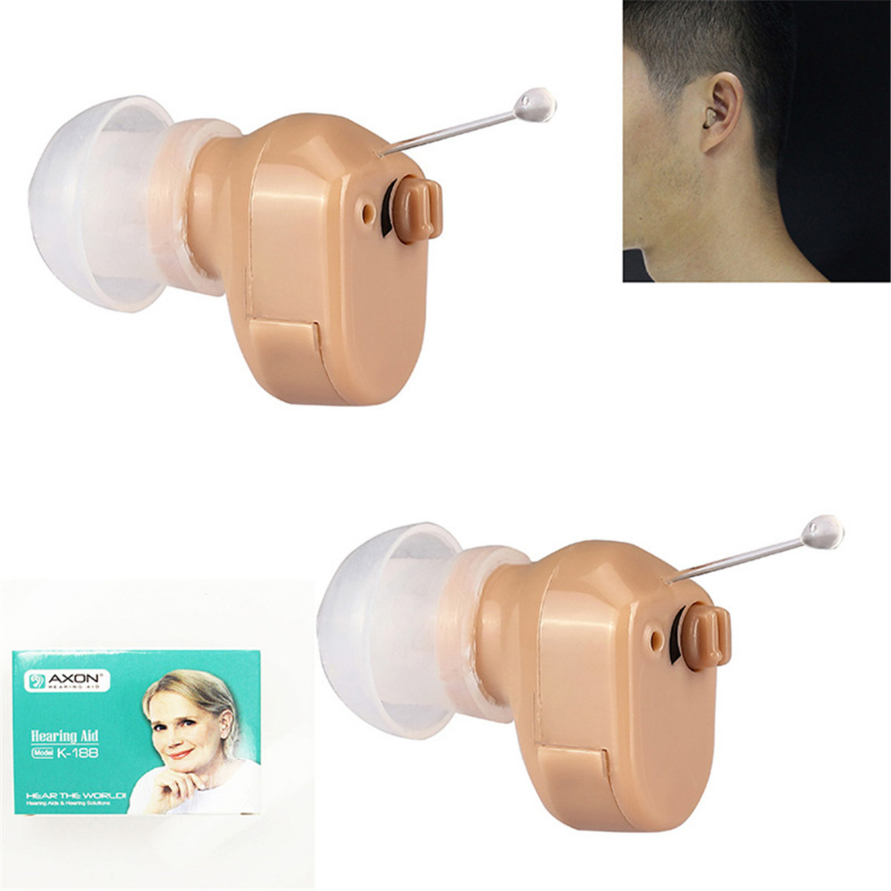 Clear Digital Hearing Aid Hear K 188 Sound Voice Amplifier Adjustable Tone Mini Device Elderly Deaf