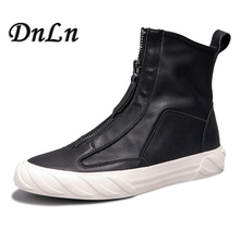 Young Men Genuine Leather Ankle Boots Fashion Autumn Winter Men Suede Leather