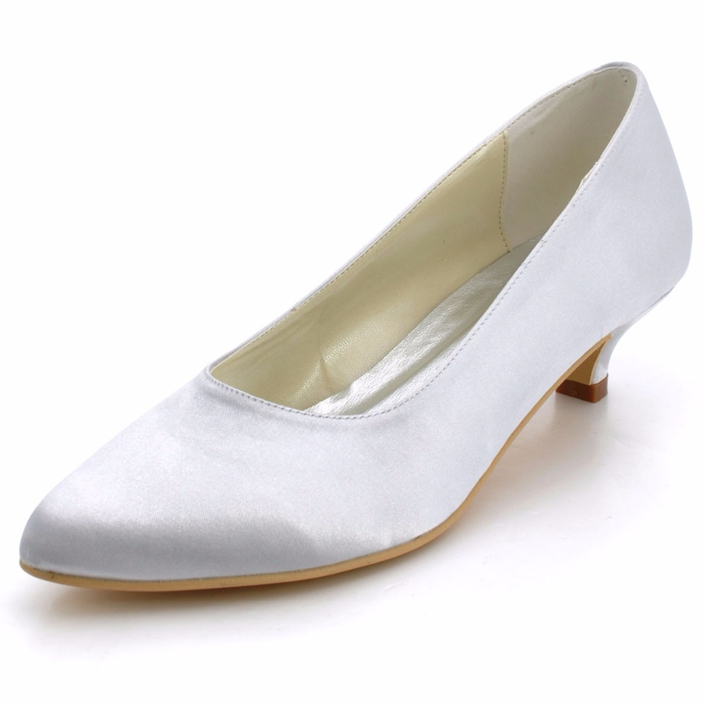 Comfortable Low Heel Wedding Shoes: Women Shoes Closed Toe Prom Party Pumps Comfortable Low