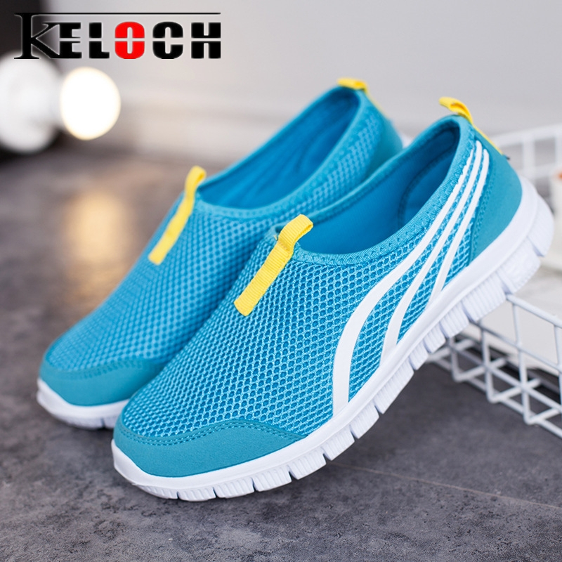 Keloch 2018 Summer Mesh Shoes Women Breathable Couple Soft Women'S Casual Flats Shoes Unisex Fashion Sneakers Chaussures Femme plus size casual women shoe mesh breathable sneaker female light summer couple shoes free shipping gold silver black huarche