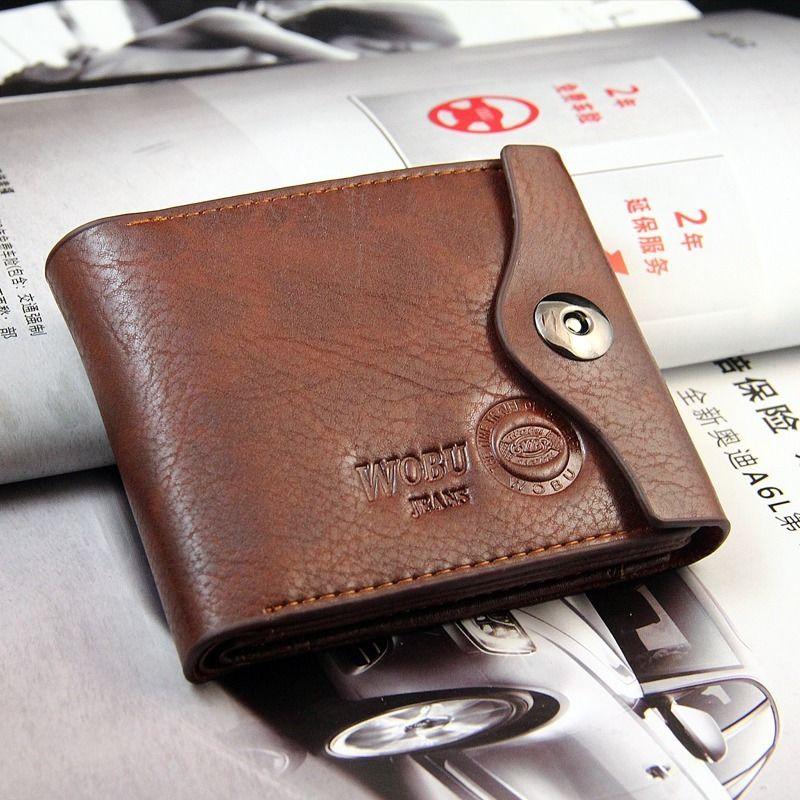 Bifold Wallet Men/'s Genuine Leather Black Credit//ID Card Holder Slim Purse Gift