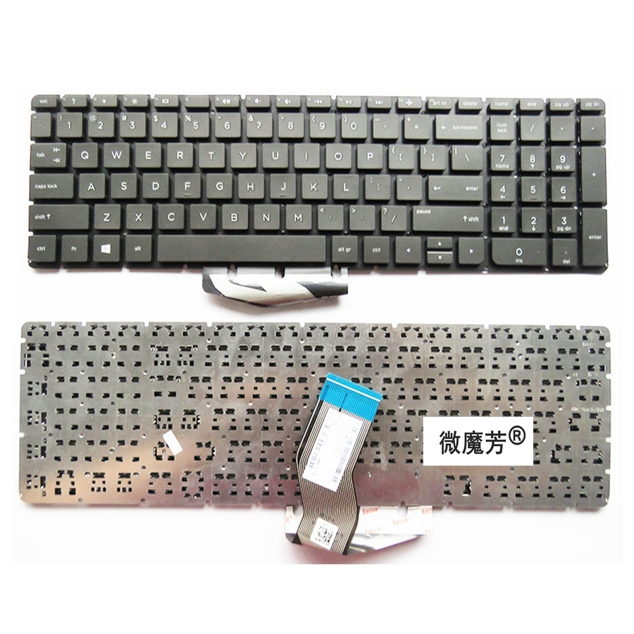 English Laptop Keyboard for <font><b>HP</b></font> for Pavilion 15-ab 15-ab000 15-ab100 15-ab200 15z-ab100 <font><b>15AB</b></font> US without backlight image