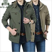 AFS JEEP Brand Windproof Waterproof Military jacket Men Plus SIZE M 4XL Casual Windbreaker jaqueta masculina