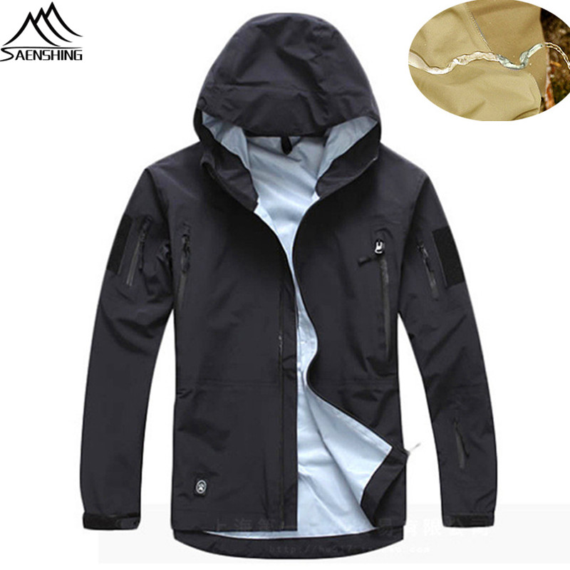Waterproof Tactical Outdoor Jacket Men Hooded Military Softshell Hunting Clothes Camouflage CS Army Jacket Coat Men Windbreaker lurker shark skin soft shell v4 military tactical jacket men waterproof windproof warm coat camouflage hooded camo army clothing
