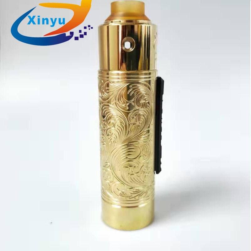, 2019 pandora Slam piece engraving 18650 20650 20700 21700 Battery 31mm Brass Vaporizer VAPE Mechanical mod VS AvidLyfe MOD kit