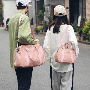 Image 5 - sack Gym Bags for Fitness Women Travel Bag Sports Handbags Shoulder Training Sac De Sport Small Gymtas Yoga Tas 2019 Sack XA41WA