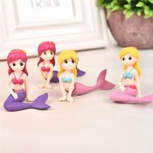 Sexy Mermaid Fairy Garden Miniatures Gnomes Moss Terrariums Resin Crafts Figurines for Home Decoration Mini Figures(China)