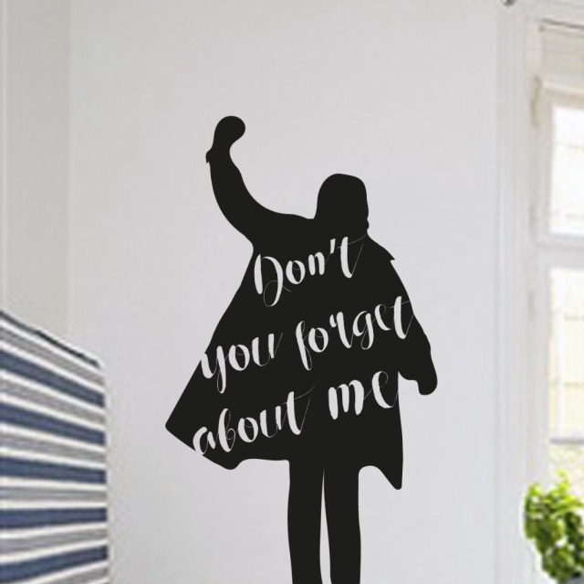 Donu0027t You Forget About Me Art Designed Quotes Wall Decals Simple Style Man  Silhouette