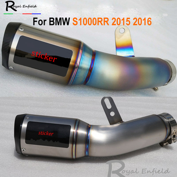 Blue Burnt S1000RR 2015 2016 Motorbike Muffler Exhaust Pipe Escape Titanium Alloy Motorcycle Exhaust Muffler for S1000RR 15-16