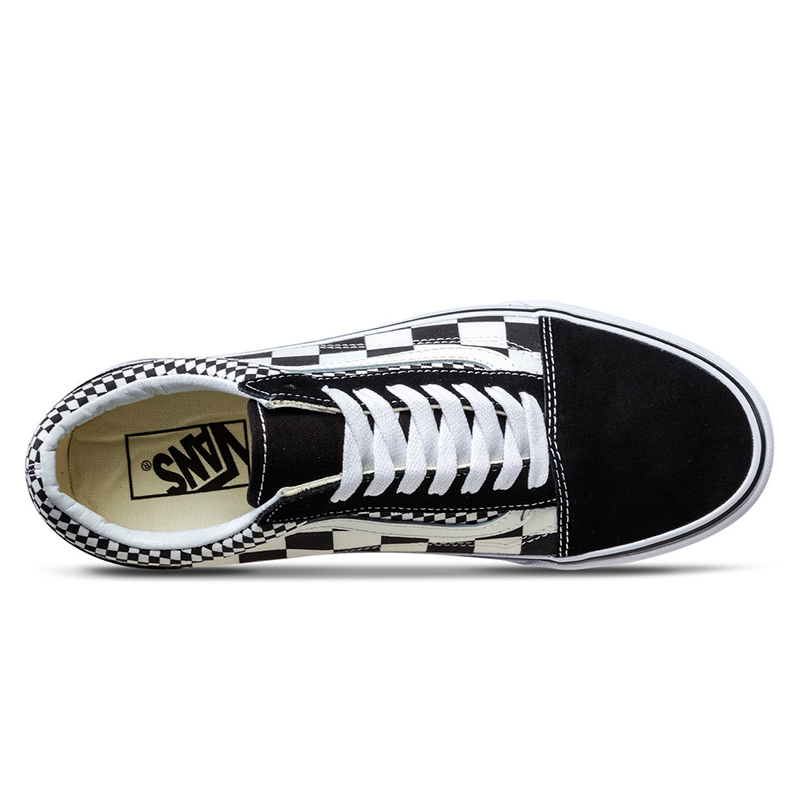 Original Vans Shoes Men s   Women s Classic Old Skool Low top Skateboarding  Shoes Checkerboard Comfortable Sneakers Canvas-in Skateboarding from Sports  ... 32e4ec7ae