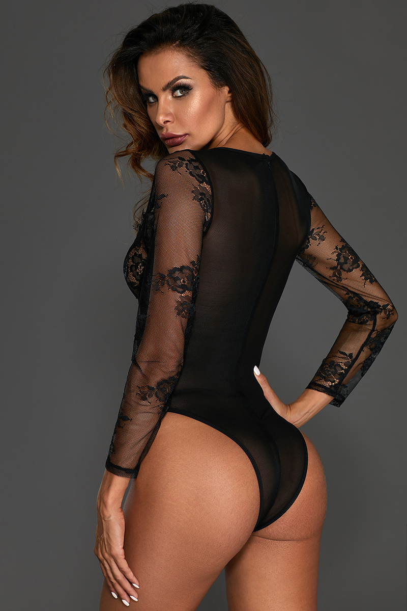 Black-Long-Sleeve-Underwire-Lace-Bodysuit-LC32299-2-4