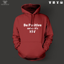 Free Shipping funny words be positive men pullover hoodie hooded sweatershirt 800g organic cotton outside fleece inside