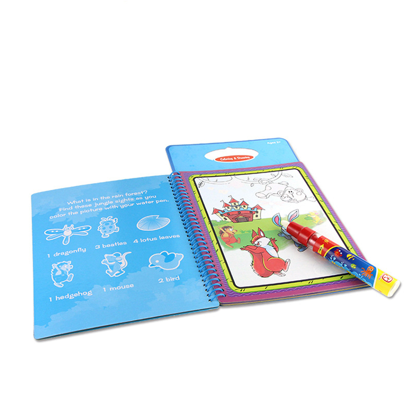 Drawing Board With Magic Pen Aqua Doodle Kid Game Sketchers Scratch Paper Stencils For Painting Coloring Book Kids