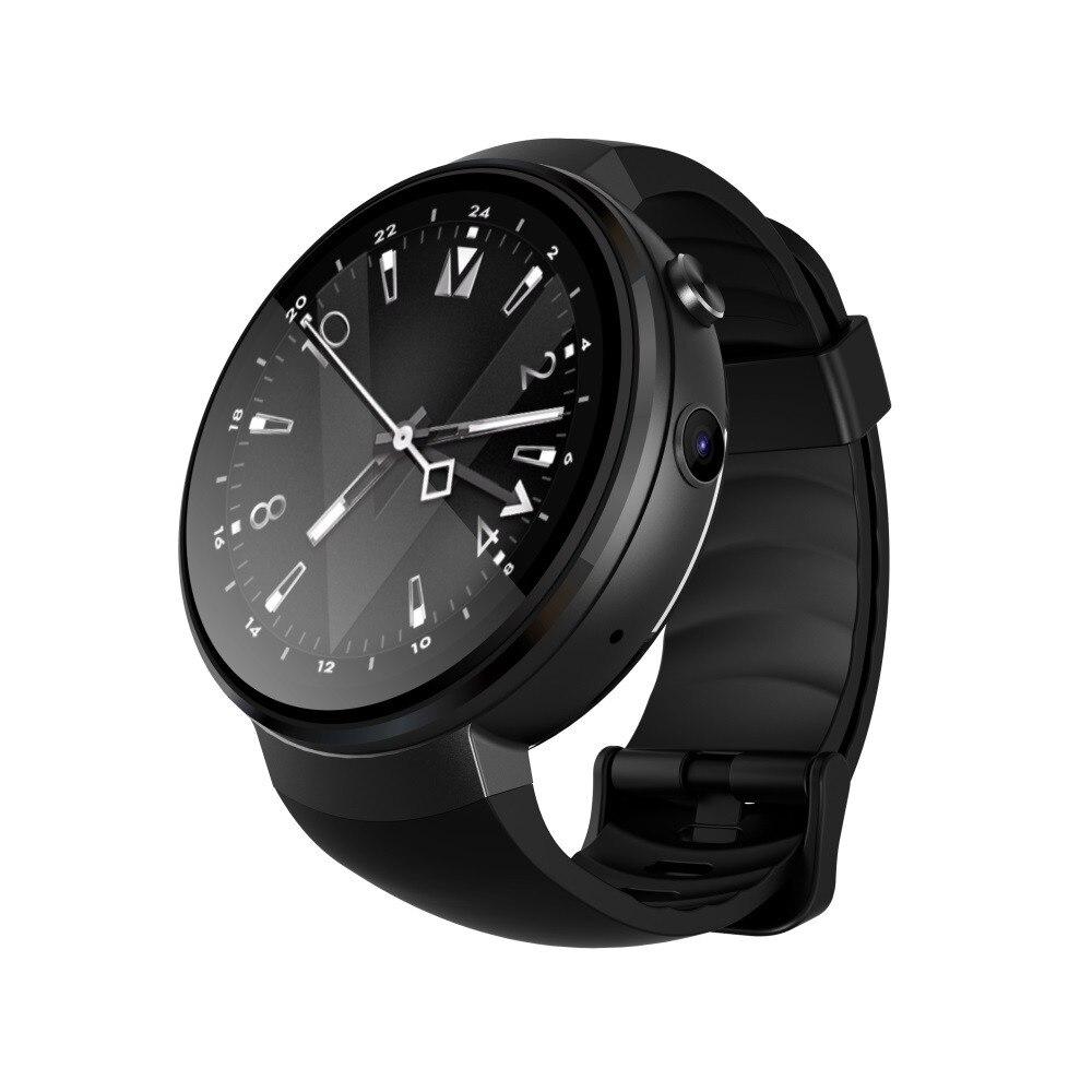 4 גרם חכם שעון AMOLED עגול מסך 1 + 16 gb אנדרואיד 7.0 GPS קצב לב צג Jul26