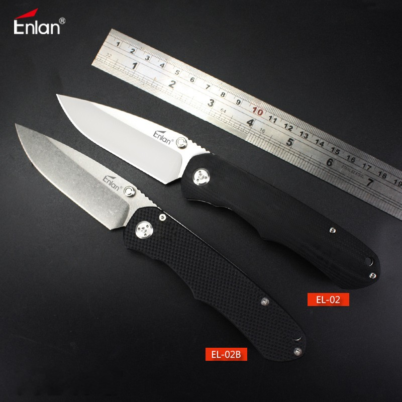 Enlan EL-02 Combat Folding Knife 8Cr13Mov Blade G10 Handle Outdoor Survival Camping EDC 20cm piston kit for yanmar l100 406cc cylinder diesel 5kw kolben assembly w ring pin clip ay tiller parts