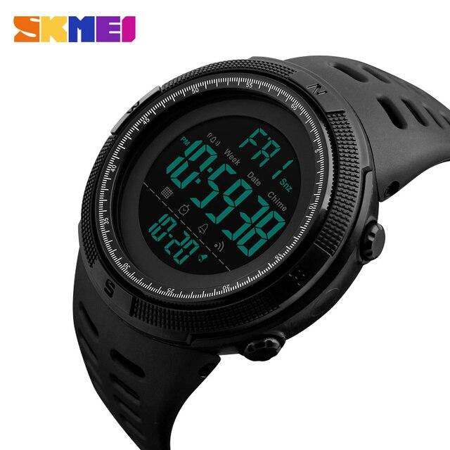 c1f851764e3 SKMEI tempo duplo relógio digital LED homens relogios desportivos de  cronógrafo à prova d água