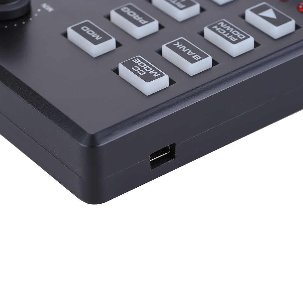 لوحة مفاتيح ميدي USB صغيرة محمولة على شكل باندا من مجموعة 25 مفتاح وحدة تحكم ميدي وحدة تحكم ميدي مع إمكانية رفع الإضاءة الخلفية عن طريق اختياري