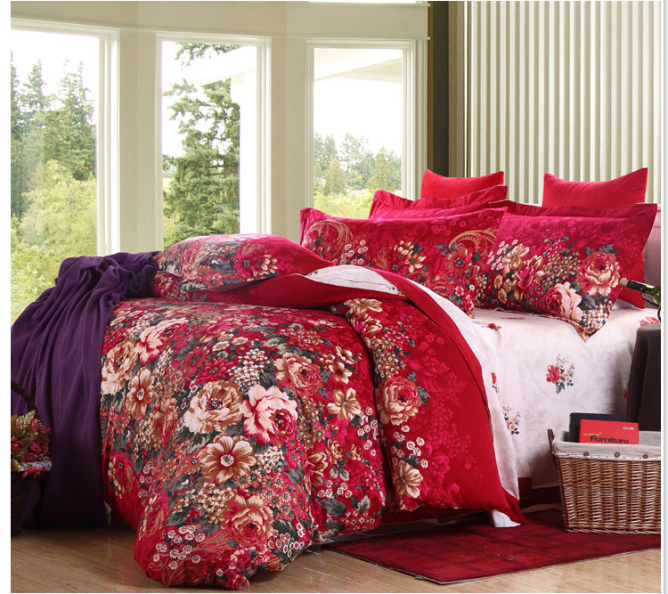 Beautiful Linens: Luxury Beautiful Flower Design Duvet Cover Queen King Size