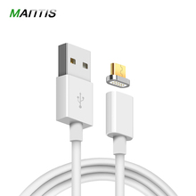 Mantis 2.4A Charging Magnetic Cable For Samsung Apple iPhone 5 5s 6 6s 7 Plus iPad Magnet Charger Micro USB Cable