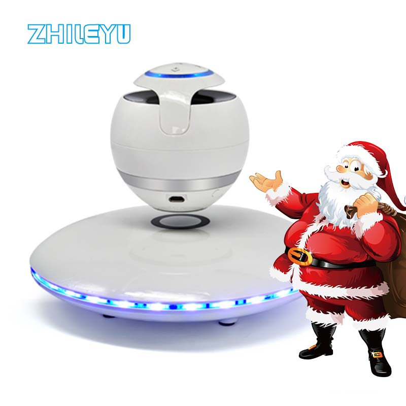 Levitating Bluetooth Speaker Portable Wireless Bluetooth Speakers with Colorful Lights 360 Degree Rotation (WHITE) wireless bluetooth speaker led audio portable mini subwoofer