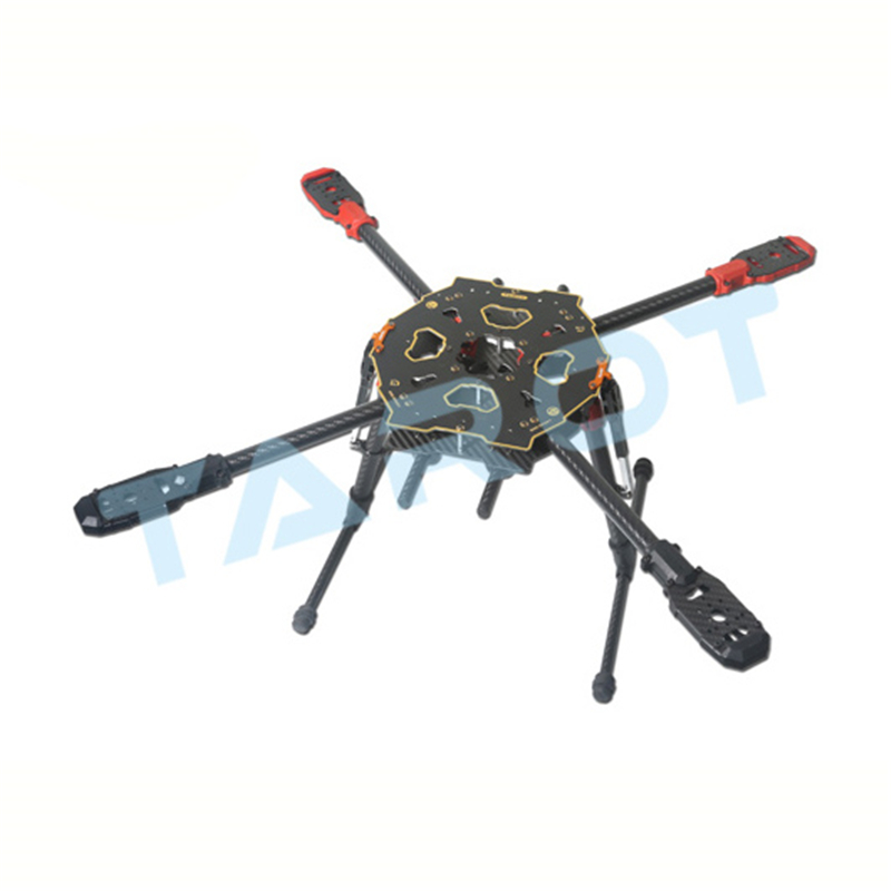 Tarot TL65S01 650 Sport Carbon Fiber Quadcopter with Electronic Folding Landing Gear for RC FPV Photography tarot rc 75 degree all metal cnc large scale electric retractable landing gear skid tripod load 30kg tarot tl4n004 diy drone