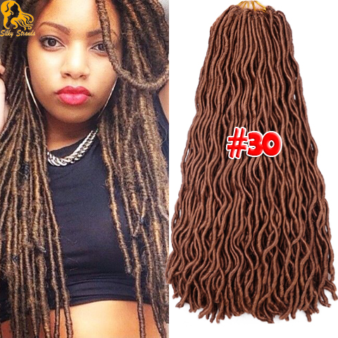 Crochet Goddess Braids : 24 Wavy Faux Locs Dreadlocks Braids Hair 100g Goddess Locs Crochet ...