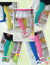children double color AB splicing velvet pantyhose tights candy for girls