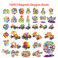 142PCS Mini Magnetic Designer Construction Enlighten Assembly Building Blocks Toys Kids Educational DIY Plastic Technic Bricks