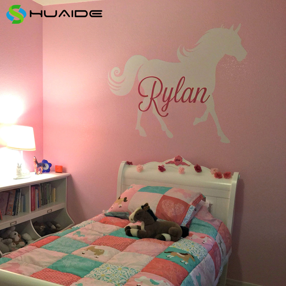 Horse sticker wall art - Personalized Name Horse Wall Sticker Vinyl Horse Decal Pony Decal Horse Wall Decal Horse Home Decals
