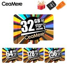 CeaMereการ์ดหน่วยความจำ256GB 128GB 64GB U3 UHS 3 32GB Micro Sd Card Class10 UHS 1การ์ดแฟลชหน่วยความจำMicrosd TF/SDการ์ดสำหรับแท็บเล็ต