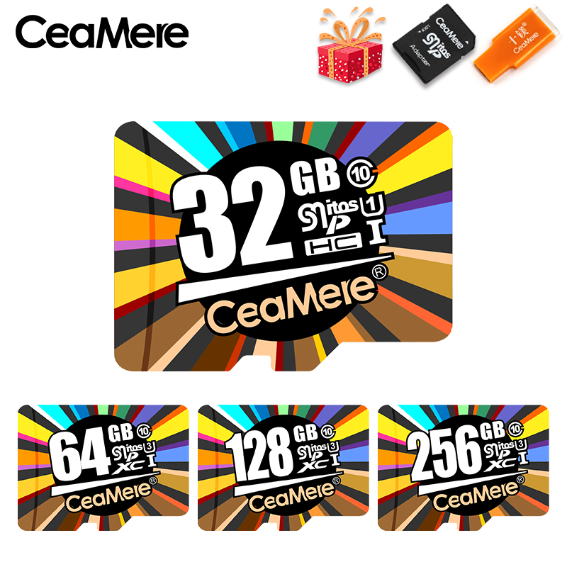 CeaMere Memory Card 256GB 128GB 64GB U3 UHS-3 <font><b>32GB</b></font> <font><b>Micro</b></font> <font><b>sd</b></font> card <font><b>Class10</b></font> UHS-1 flash card Memory Microsd TF/<font><b>SD</b></font> Cards for Tablet image