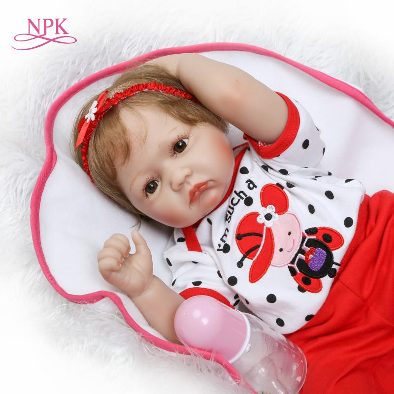 NPK new Simulation Babydoll soft touck reborn doll Handmade Collections Living doll Gift for children on