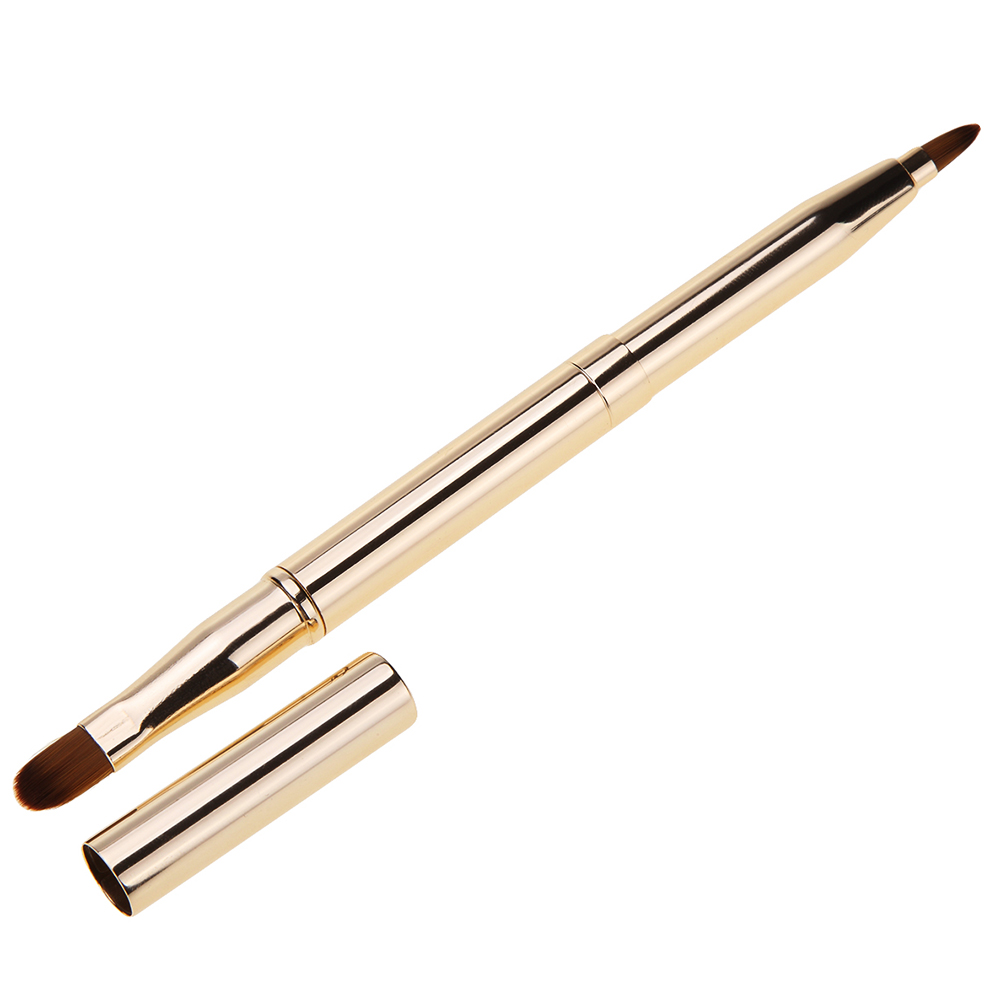 1 Pcs Double-Headed Makeup Lip Brush Eyeshadow Brush*